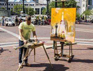 réglages hauteur chevalet peinture