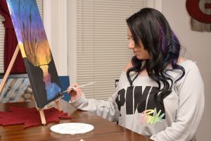 peinture avec chevalet